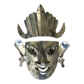 Silver Mexican Mask