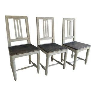 19th Century Swedish Gustavian Chairs - Set of 3