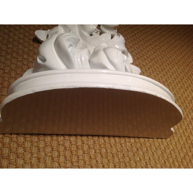 White Rococco-Style Wall Shelves - A Pair - Image 3 of 5