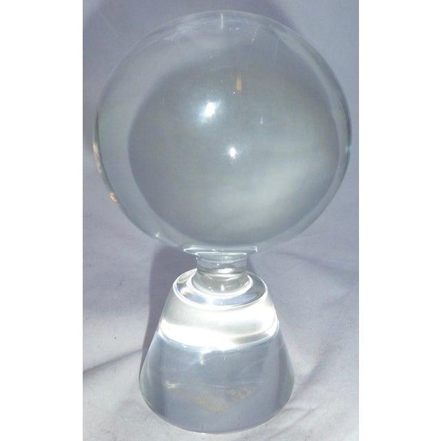 Mid-Century Modern Murano Glass Crystal Ball - Image 5 of 7