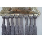 Image of Moroccan Gray Silk & Brass Tassel Ornament