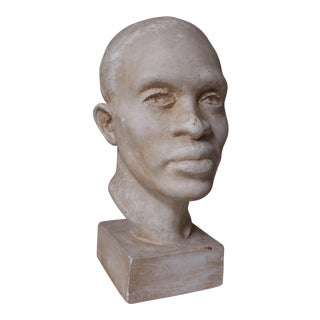 Original Plaster Head of an African Male