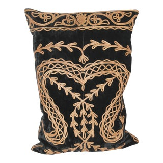 Victorian Metal Trim Velvet Pillow