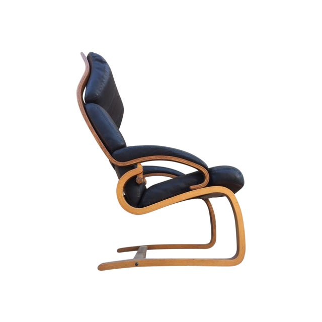 Norwegian Leather Tension Chair - Image 1 of 4
