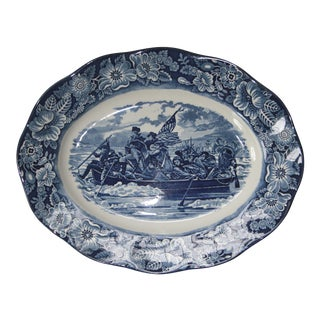 Liberty Blue Staffordshire Transfer Ware Serving Platter