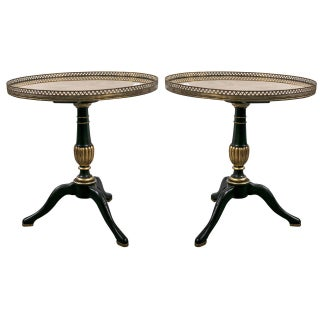 1940s Jansen Louis XVI Style Side Tables - A Pair