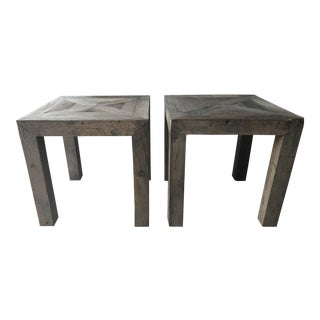 Rustic Driftwood Side Tables - A Pair