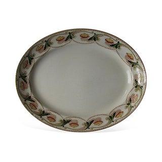 English Art Nouveau Transferware Platter