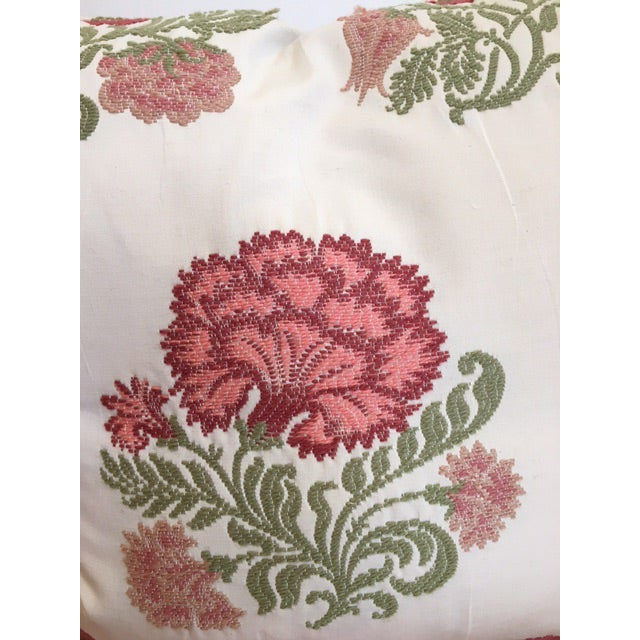 Embroidered Decorative Throw Pillows - A Pair - Image 4 of 4