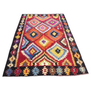 "Turkish Vintage Kilim Rug - 5'10"" X 8'8"""
