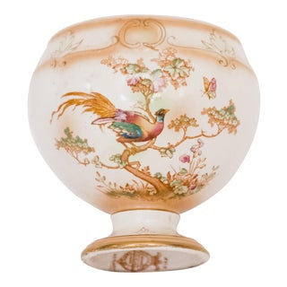Vintage Porcelain Vase with Pheasants