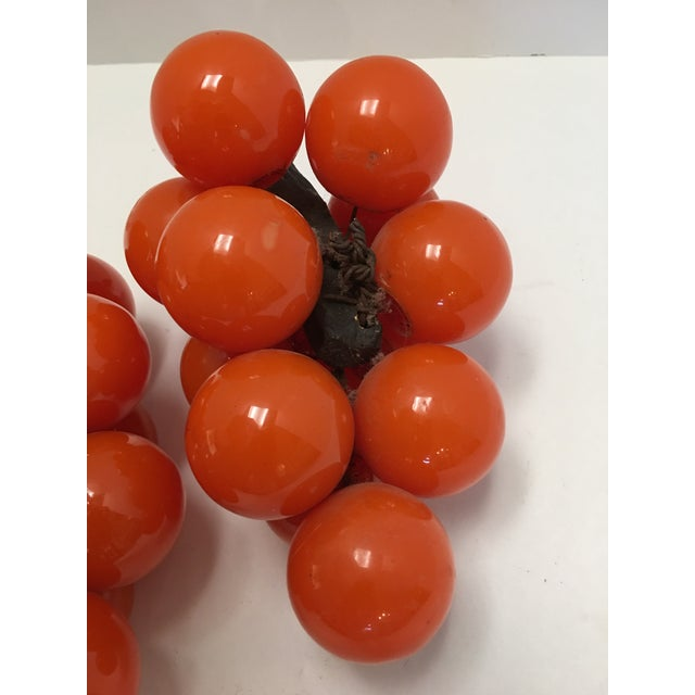Mid-Century Orange Lucite Grapes - A Pair - Image 9 of 11