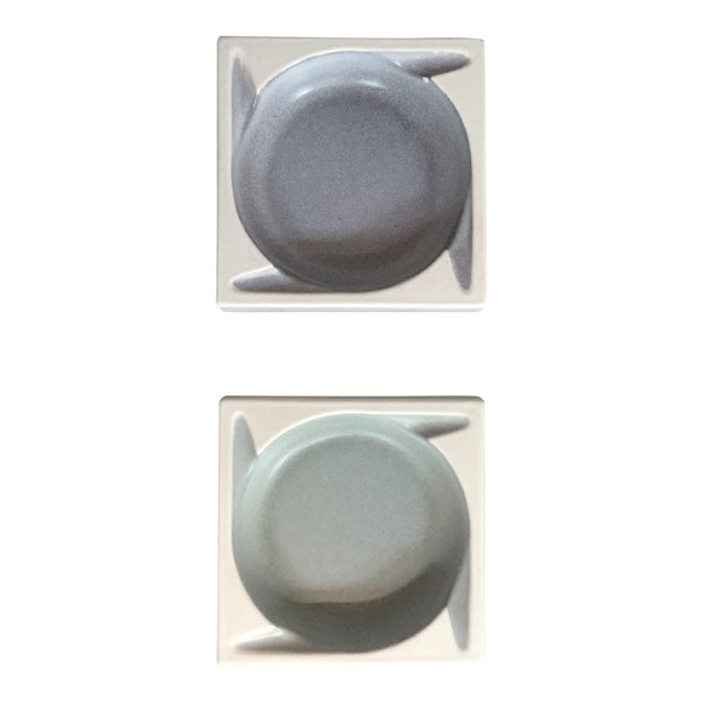 Porcelain Ashtrays by Hyalyn - a Pair - Image 1 of 8