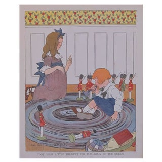 Vintage Matted British Children's Print/Toot