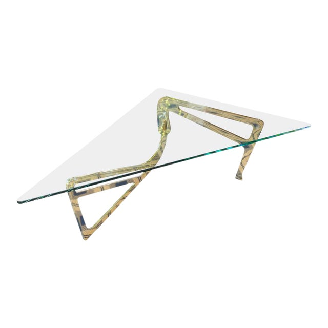 Italian Stylized Brass Cocktail Table - Image 1 of 11