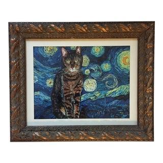 Judy Henn Starry Night Cat Print
