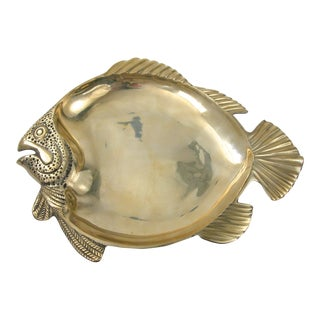 Vintage Brass Fish Tray