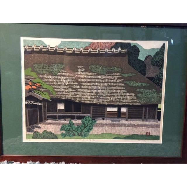 Takehiko Hironaga Large Woodblock Print - Image 3 of 8
