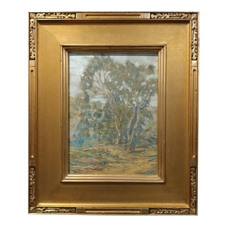Original 1920s California Expressionist Eucalyptus Oil Panting