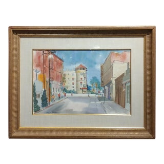 David Blower -Castle Green in Pasadena-original 1960s Painting