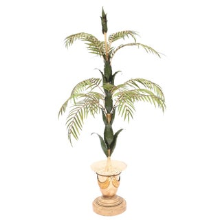 Italian Iron Palm Tree Decoration or Torchiere