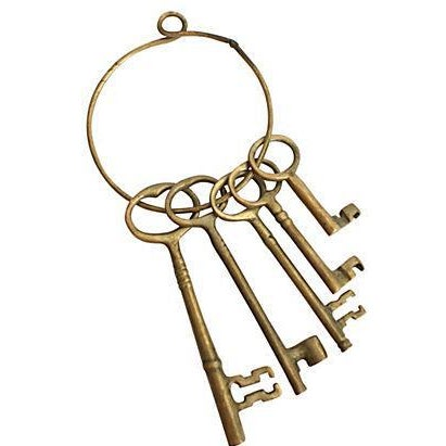Brass Skeleton Keys on Ring - Image 2 of 2
