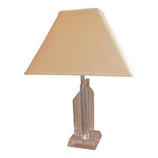 Mid-Century Modern Three Prism Lucite Lamp