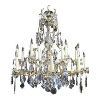 Grand 18th Century, Italian Beaded Piedmont Crystal Chandelier