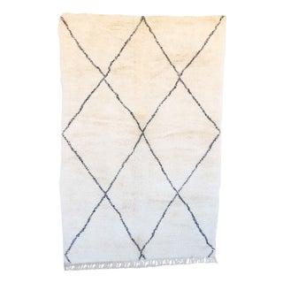 "Vintage Beni Ourain Moroccan Rug - 6'6"" x 9'10"""