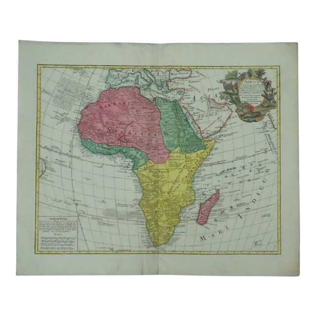 1778 Africa Map by Lotter - Image 1 of 10