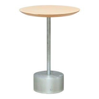 Aluminium and Birch Side Table