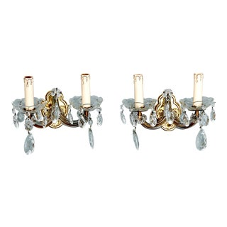 Two Arm Maria Theresa Style Sconces - A Pair