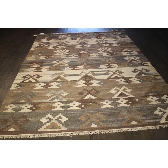 Apadana - Hand-Knotted Brown Kilim Rug - 5' x 8' - Image 4 of 4