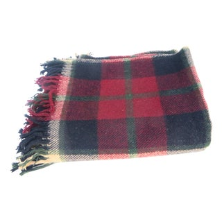 Cranberry Plaid Blanket