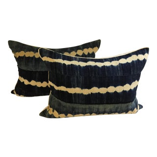 Blue and White Pillows - A Pair