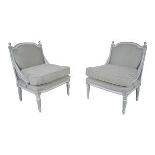 Antique French Louis XVI Bergeres - A Pair
