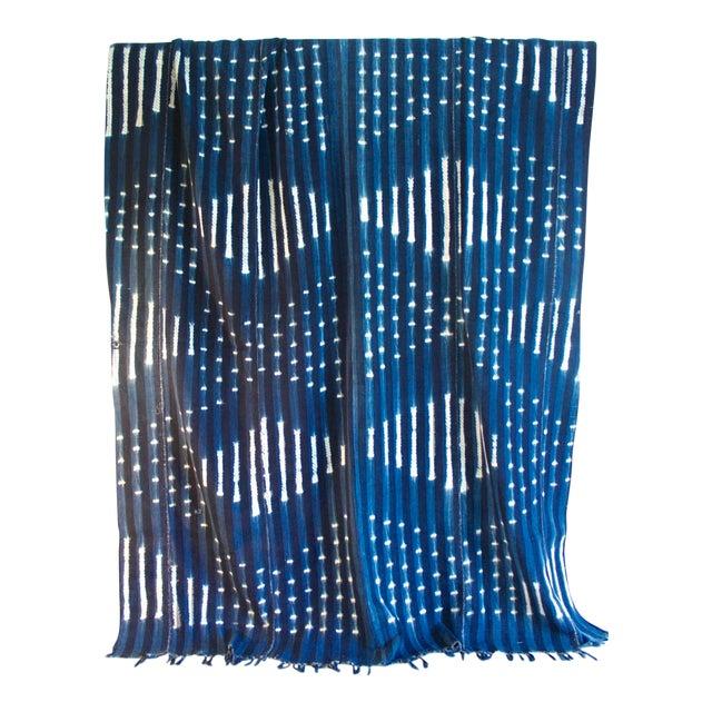 Vintage African Indigo Textile Throw - Image 1 of 5