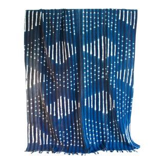 Vintage African Indigo Textile Throw