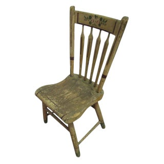 Stenciled Vintage Wooden Chair