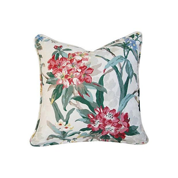 P. Kaufmann Rhododendron Pillows - A Pair - Image 3 of 7