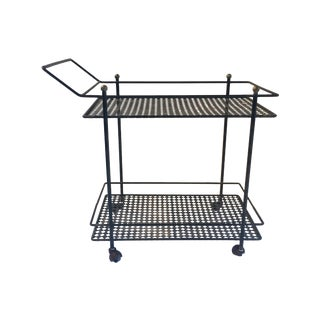 Mid-Century Saporiti Metal Bar Cart