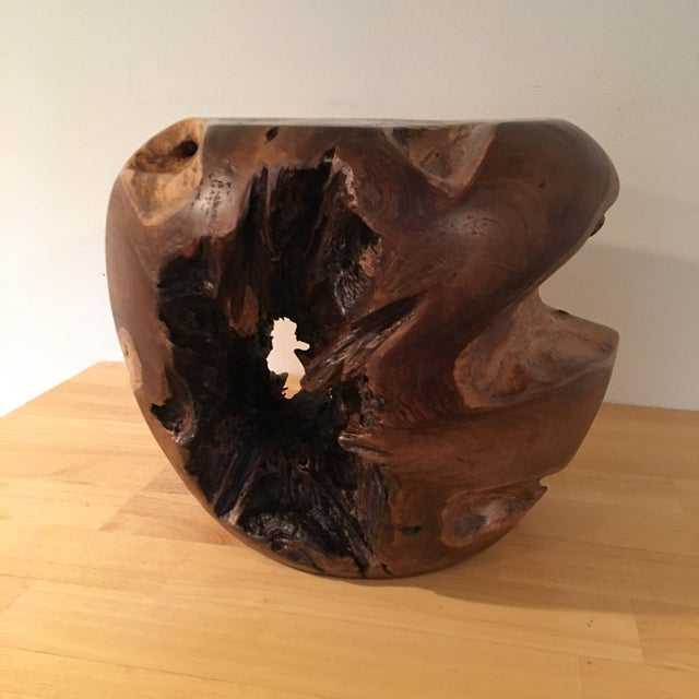 Teak Root Wood Accent Side Table Base - Image 2 of 6