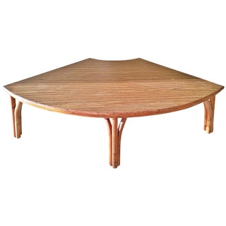 Midcentury Rattan Bamboo Coffee Table