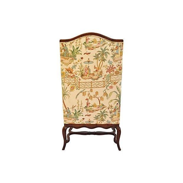 Henredon Chinese Chippendale Wingback Chair - Image 4 of 6