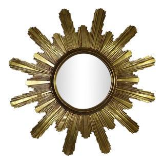 1980s Gilded Sunburst Starburst Mirror