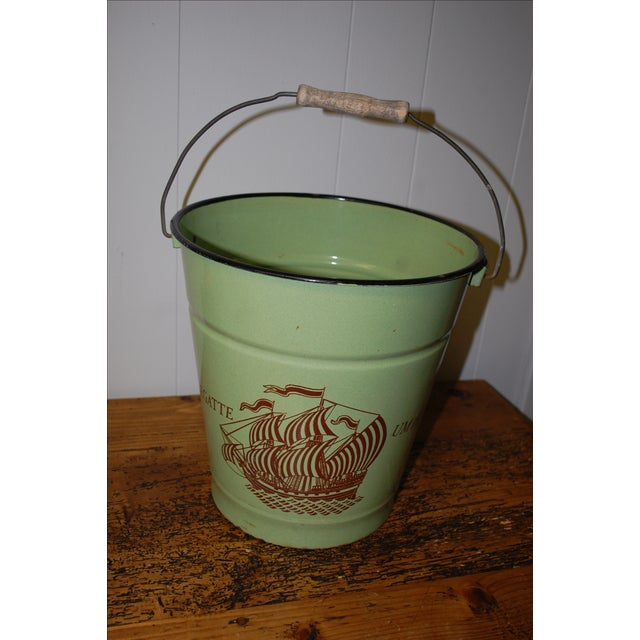 Antique European Enamel Bucket - Image 4 of 4