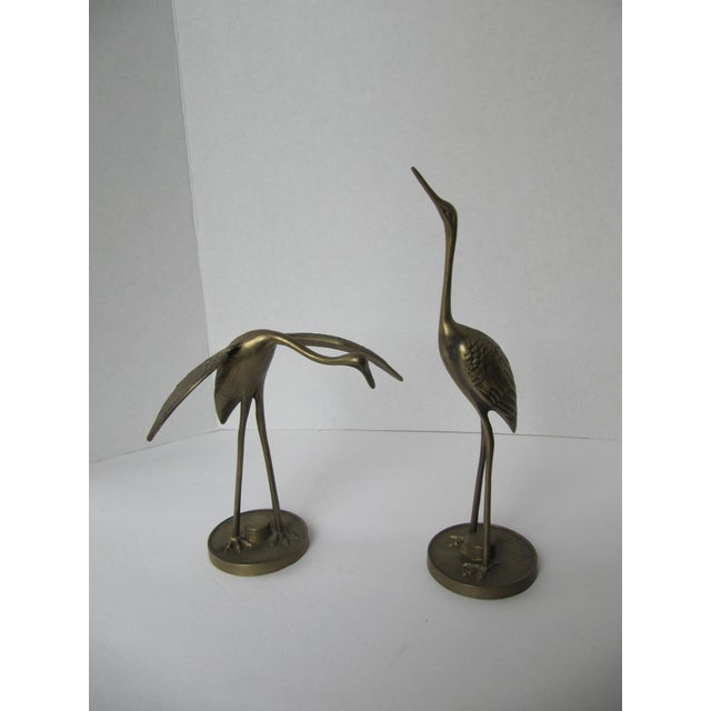Solid Brass Egrets - Image 3 of 6