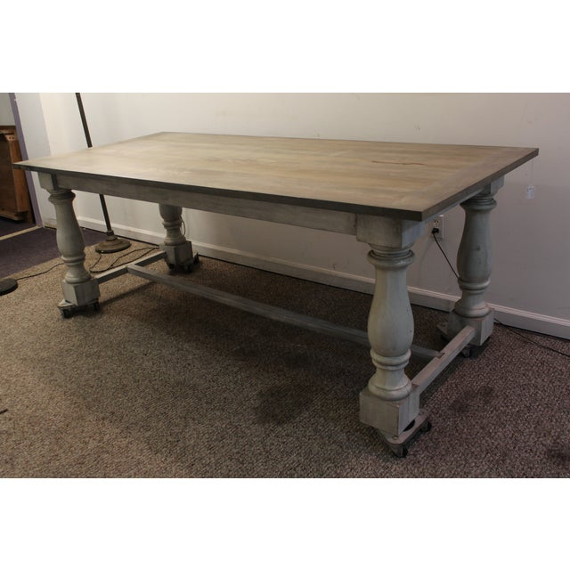 Primitive French Country Dining Table - Image 4 of 11