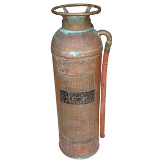 Vintage Copper and Brass Fire Extinguisher