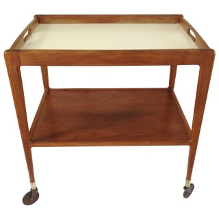 1960s Danish Teak Bar Cart